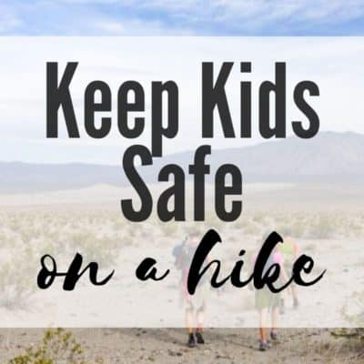 keep kids safe on a hike