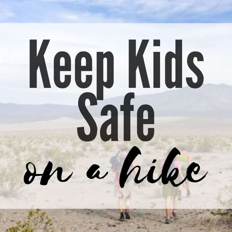 keep kids safe on a hike
