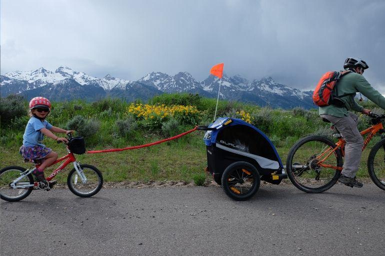 Family Biking on the Road