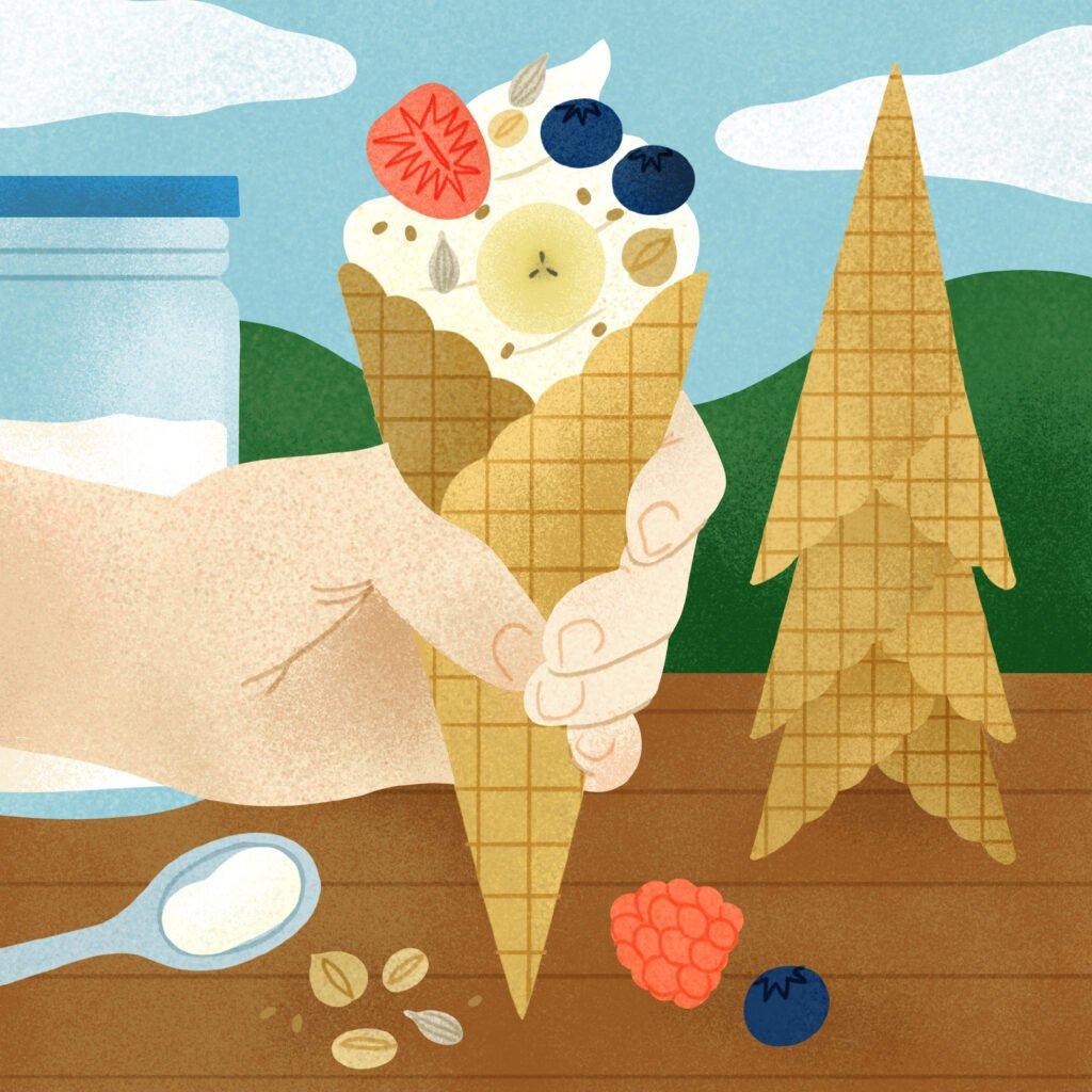 The Easy Camp cookbook yogurt parfaits