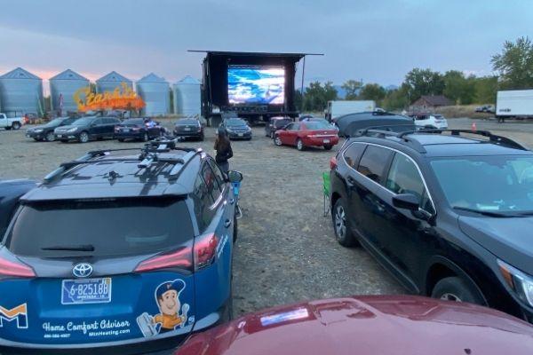 ski movie drive in
