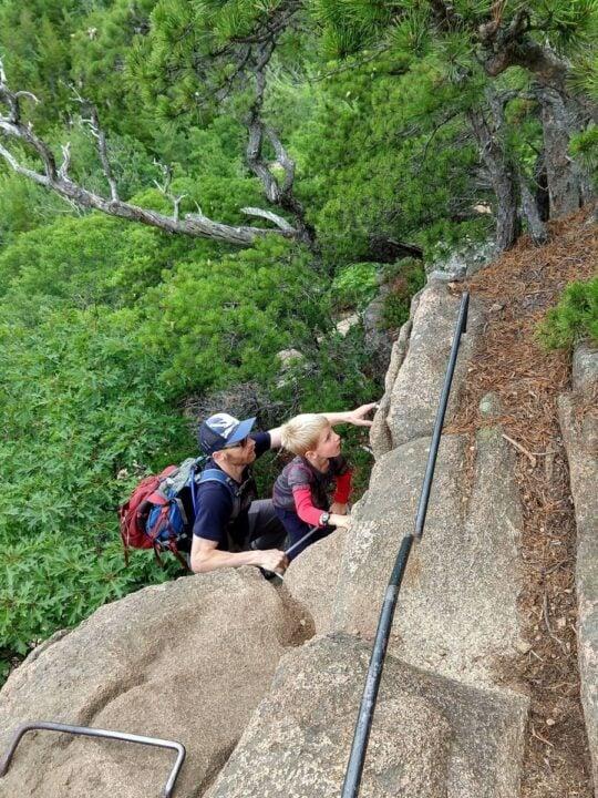Acadia national park family hiking
