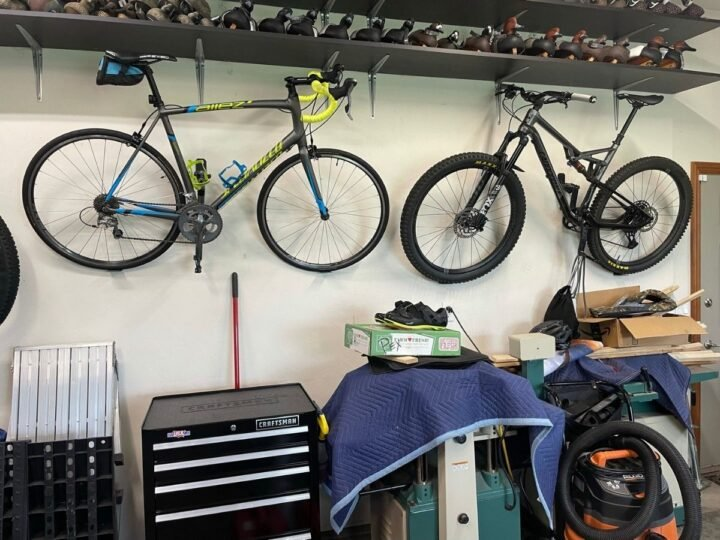 Hang your bikes to keep them organized