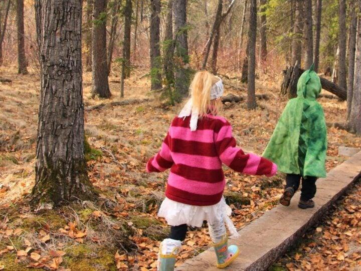 Halloween hiking